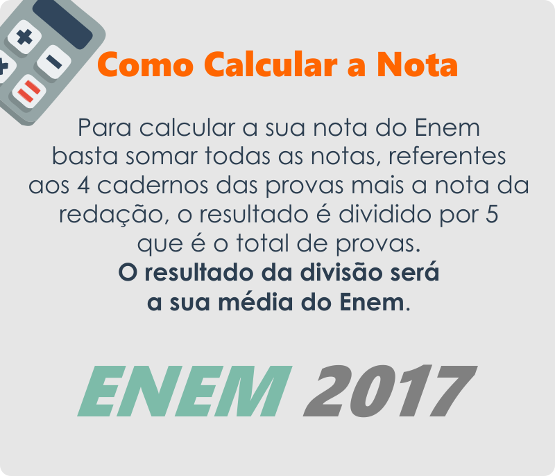 Como Calcular a Nota do Enem 2017