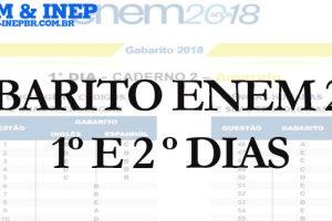 Gabarito Enem 2018 - 1º e 2º Dias